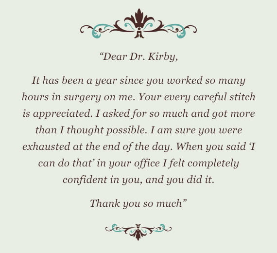 thank you dr. kirby